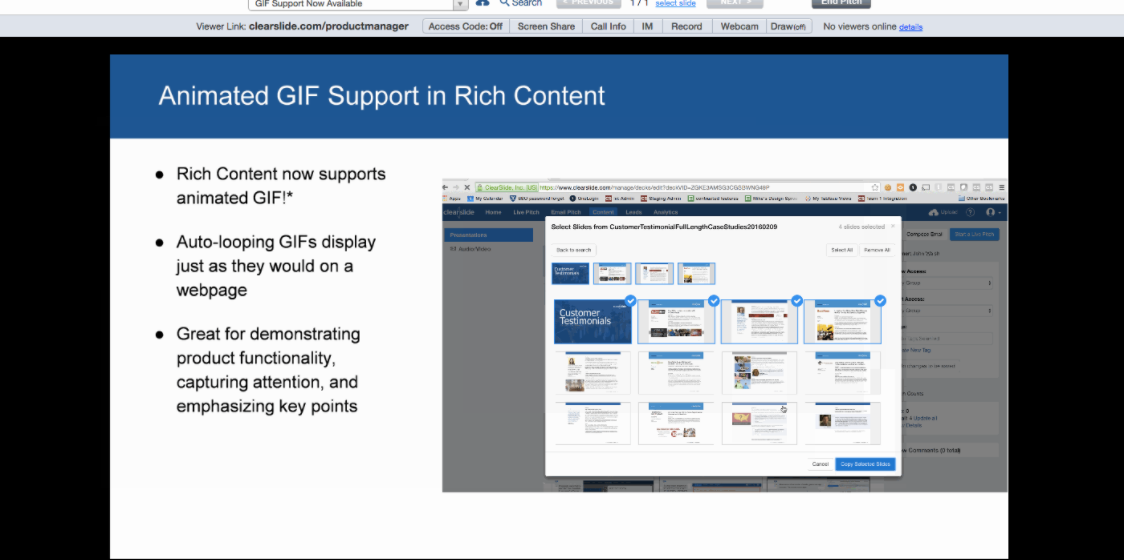 Keep audiences engaged using rich content now featuring gif keep audiences engaged using rich content now featuring gif support clearslide negle Gallery