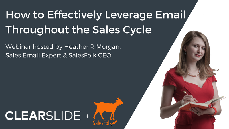 Sales Folk Webinar - Email in the Sales Cycle