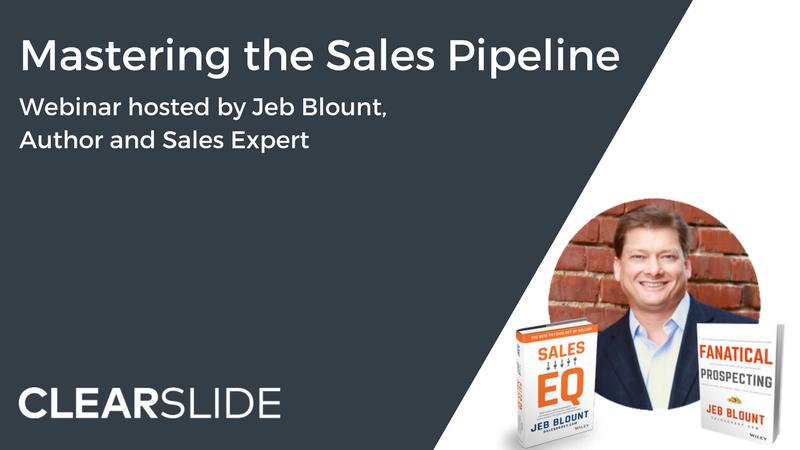 Jeb Blount Sales Pipeline Webinar