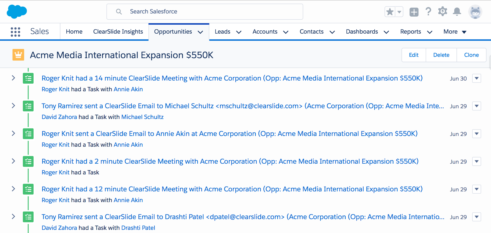 Email Tracking & Campaigns | ClearSlide