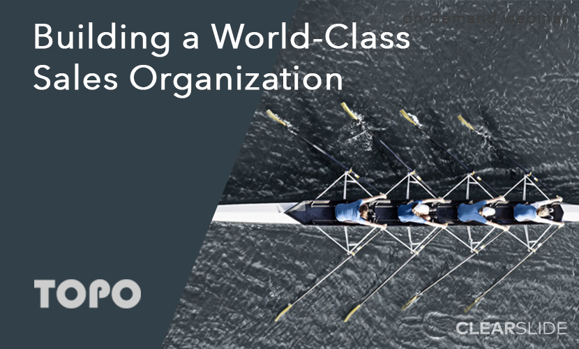 world class sales organization