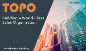 topo sales organization webinar