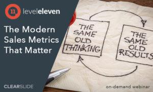 LevelEleven Sales Metrics Webinar