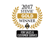 sales customer service award winner stevie win gold