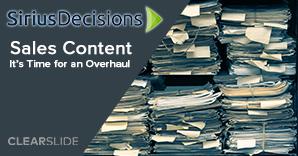 Sales Content - SiriusDecisions